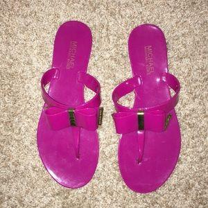 Michael Kors plastic pink sandals